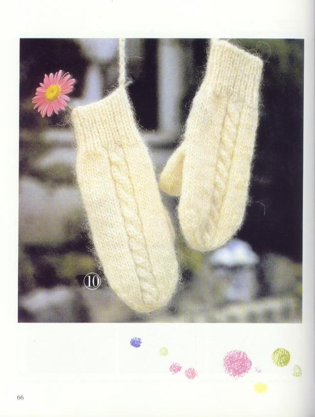 《图解棒针编织基础实例》之毛线手套的编织~~多款()
