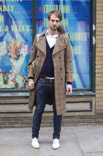 西服款的长风衣帅气十足-伦敦街头型人 最IN搭配秀图片
