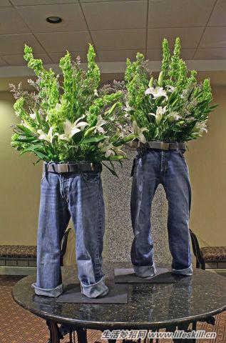 穿旧的牛仔裤不要扔,可以DIY小物件