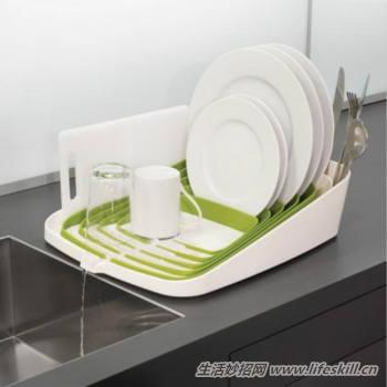 自动排水碗碟架,让碗碟更干净!