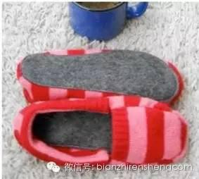 旧毛衣改造鞋子_