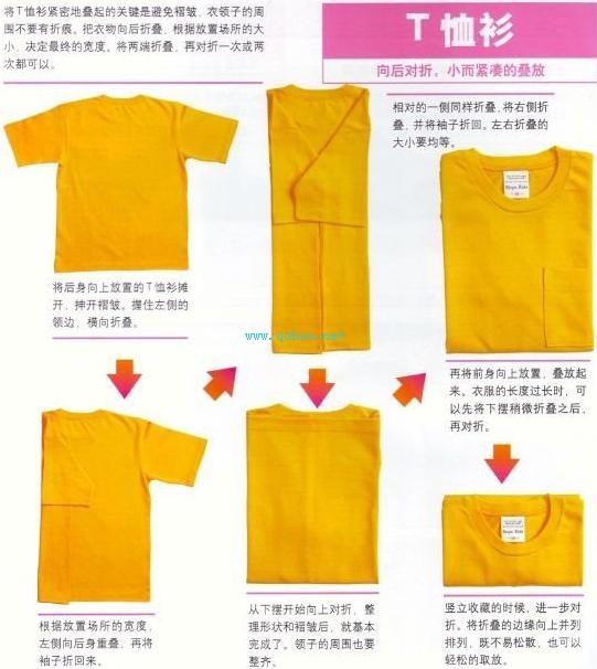 叠短袖的方法图解