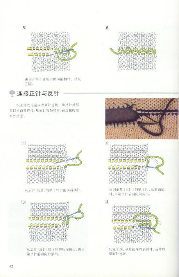 《图解棒针编织基础实例》之连接方法