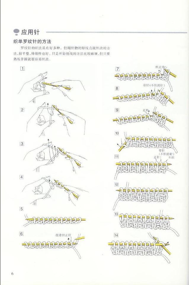 《图解棒针编织基础实例》之各种针法的应用