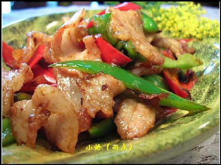 青做法豆瓣酱炒咸肉的红椒核桃仁蒸熟图片